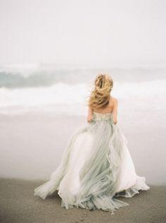 Grey wedding dress inspiration by Greer Gattuso Photography   Wedding Sparrow   wedding blog