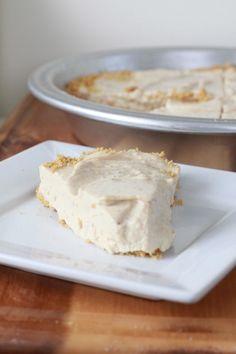 Healthy Peanut Butter Pie (175 calories/slice!)   Espresso and Cream