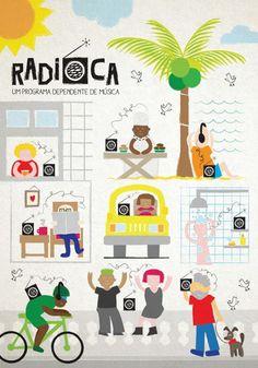 Postal divulgado pela MiCA para a Radioca, programa da Radio Educadora 107,5 FM de Salvador.  Mais em: facebook.com/micaideias