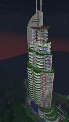 awesome minecraft skyscraper
