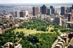 "Boston Commons, part of Boston's ""Emerald Necklace."""