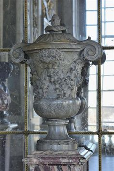 Covered vase in turquin blue marble, Salon de la Paix, versailles Palace Versailles, Palace, Marble, Shades, Classic, Blue, Peace, Drawing Rooms, Derby