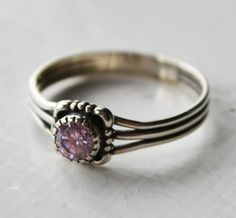 Baby's Breath Pink CZ Ring