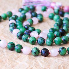 108 Mala Necklace Prayer Beads Yoga Mala Buddhist by MishkaSamuel, $65.00