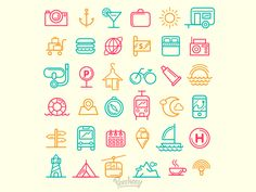 Traveling Icons by Peecheey