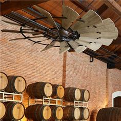 """60"""" Rustic Windmill Ceiling Fan for the great room!"""