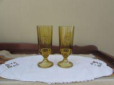 Bi-Centennial Pilsner Glassware  Amber  by mimishomefashions