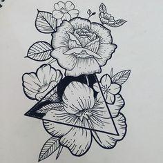 flower tattoo triangle - Szukaj w Google