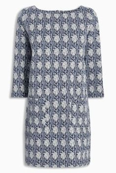 Buy Blue Jacquard Patch Tunic from the Next UK online shop