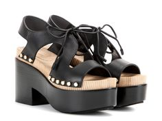 Balenciaga sandals with platform in black leather - Italian Boutique €387