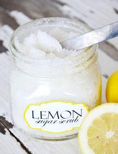Organic Lemon Sugar Scrub