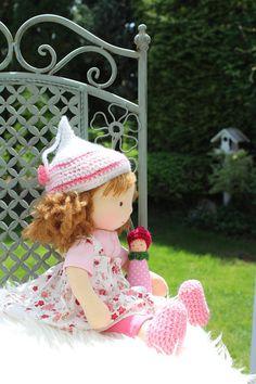 Waldorf doll, 14 inch tall /36 cm/doll steiner doll, organic doll,fabric doll, cloth doll, handmade