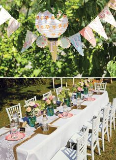 Vintage Lace & Floral Garden Party -#girlsparty #vintageparty #gardenparty