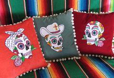 Rockabilly Dia de los Muertos Cushions