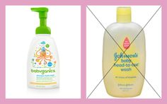 Use This, Not That: BABY SHAMPOO & other baby care products you shouldn't be putting on your little one's sensitive skin. #babyganics vs. #johnsonsbabywash