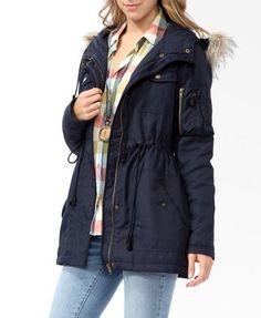 Hooded Utility Jacket   FOREVER 21
