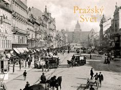 Wenceslas square, Old Prague Old Pictures, Old Photos, Heart Of Europe, World View, History Photos, Eastern Europe, Amazing Destinations, Czech Republic, Time Travel