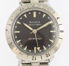Vintage Bulova Accutron Astronaut 24 Hour Gents Wrist Watch M7 c1967
