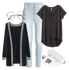 """Lazy day with Donghyuk"" by ebenita95 ❤ liked on Polyvore featuring H&M, adidas, kpop, ikon and donghyuk"