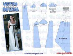 66 Ideas For Diy Wedding Dress Patterns Gowns Sleeve Diy Wedding Dress, Wedding Dress Patterns, Dress Sewing Patterns, Clothing Patterns, Barbie Clothes, Sewing Clothes, Diy Clothes, Fashion Sewing, Diy Fashion