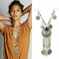 Freepeople long coin necklace So boho! Turkish or Moroccan Free People Jewelry Necklaces