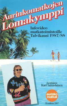 Vuonna 1987 oli itse Kari Salmelainen esittelemässä Aurinkomatkojen talven matkoja.