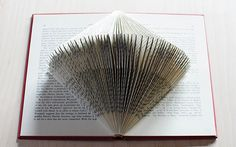 Learn the basic folds in creating a book sculpture and how to modify this basic fold to create interesting designs. Old Book Art, Old Book Crafts, Book Page Crafts, Sculpture Lessons, Sculpture Projects, Book Sculpture, Wire Sculptures, Book Christmas Tree, Christmas Paper Crafts