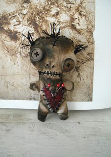 Junker Jane Art Dolls and Soft Sculptures: NEW! ^ new Voodoo Dolls in my Big Cartel shop!