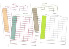 Weekly Homeschool Planner Printables
