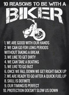 10 reasons to be a biker