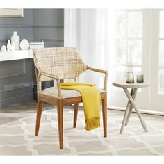 Safavieh Carlo Honey Arm Chair - Overstock™ Shopping - Great Deals on Safavieh Living Room Chairs