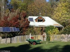 For more than 30 years she has been living 'off the grid' in her solar-powered home