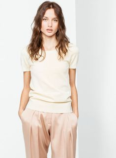 Short-sleeve fitted top