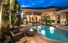 Pelican Marsh Residence - Contemporary - Pool - Miami - Barbara Rooch Interior Environments, Inc.