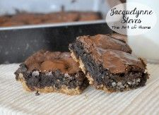 Trashy Brownies- chocolate chip cookie base, brownie mix, and Oreos- Jacquelynne Steves