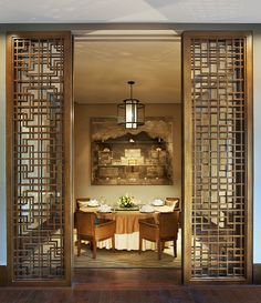 Decorative Panels at The St. Regis Lhasa Resort—Yan Ting Chinese Restaurant by St Regis Hotels and Resorts Decor, House Design, Interior, Chinese Interior, Private Dining, Decorative Panels, Room Partition Designs, Asian Interior, Private Dining Room Restaurant