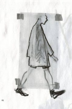 Damir Doma look illustrated by Richard Haines