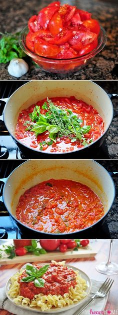 30-Minute Fresh Tomato Sauce | 33 Delicious Ways To Use Up Your Summer Vegetables
