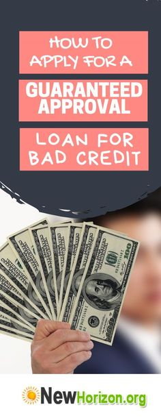 How to Apply for a Guaranteed Approval Loan for Bad Credit Here are the procedures involved in applying for a guaranteed loan My Credit Score, Loans For Bad Credit, Apply For A Loan, How To Apply, How To Get, Debt Repayment, Debt Payoff, Guaranteed Loan, Unsecured Loans