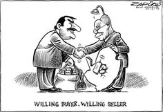 Willing Buyer, Willing Seller - Zapiro Jacob Zuma, South Africa, Jokes, Sketches, African, Cartoons, Afrikaans Quotes, Politics, Funny Things