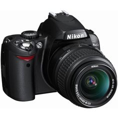 Nikon D40 6.1MP Digital SLR Camera Kit with 18-55mm f/3.5-5.6G ED II... ($600) ❤ liked on Polyvore featuring electronics, camera, technology, accessories and random