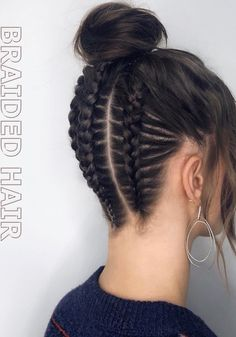 Braided Hair What are all the different types of braids? braided hair Short braided hairstyles Dutch in 2020 Braids For Short Hair, Easy Hairstyles For Long Hair, Box Braids Hairstyles, Pretty Hairstyles, Elegant Hairstyles, Prom Hairstyles, School Hairstyles, Black Hairstyles, Braided Hairstyles For Short Hair