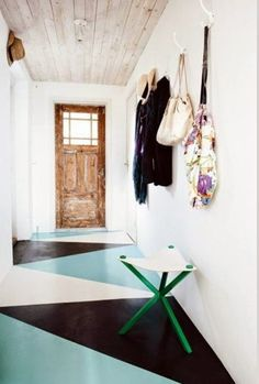 A Gallery of Scene-Stealing Painted Floors | Apartment Therapy