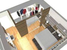 Resultado de imagen para suite pequena com closet