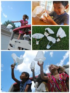 for Kids: Build a Parachute Engineering for kids: Building a working parachute is a fun STEM project that kids will love!Engineering for kids: Building a working parachute is a fun STEM project that kids will love! Stem Science, Preschool Science, Science Experiments Kids, Science For Kids, Engineering Projects, Stem Projects, Science Projects, Projects For Kids, Engineering Science