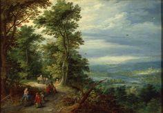 Брейгель, Ян Старший. 1568-1625  Название:  Опушка леса (Бегство в Египет)
