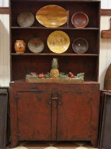 EARLY AMERICAN STEP BACK COUNTRY PRIMITIVE STEPBACK HUTCH CUPBOARD ...