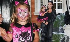Tamara Ecclestone and daughter Sophia co-ordinate Halloween costumes in London | Daily Mail Online