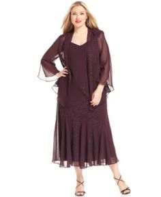R Richards Plus Size Dress & Jacket, Sleeveless Beaded V-Neck - Plus Size Dresses - Plus Sizes - Macy's