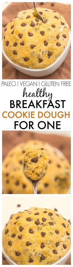 Healthy Breakfast Cookie Dough for ONE- The taste and texture of real cookie…